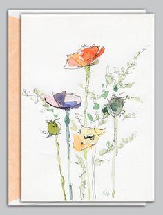 watercolor outline
