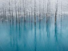 Blue lake, Hokkaido,Japan