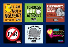 animal rights sticker sheet