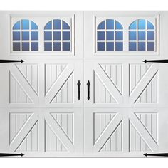 Pella Carriage House Series 108 In X 84 In White Single Garage Door 12 Single Garage Door White Garage Doors Garage Doors