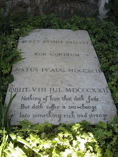 Percy Bysshe Shelley's grave, Rome.