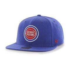 Detroit Pistons Sure Shot Royal 47 Brand Adjustable Hat 5ade1edee70e