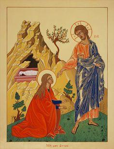 "Icona ""Gesù risorto si manifesta a Maria Maddalena"""