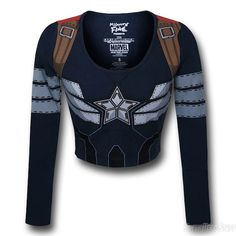 Fight The Fashion Police With This Captain America Women's Crop Top Tee