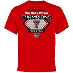 Texas Tech Red Raiders 2013 National University Holiday Bowl Champions T-Shirt WRECK 'EM!!!
