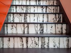White on Black  - Step Up Your Staircase Design on HGTV