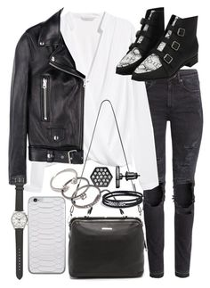 """""""Untitled #19167"""" by florencia95 ❤ liked on Polyvore featuring moda, H&M, Acne Studios, Linea Pelle, Simply Vera, Forever 21, David Yurman e J.Crew"""