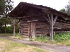 Log cabin school house in Kerby, Oregon