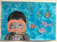 Summer Preschool Activities, Ocean Activities, Art Drawings For Kids, Drawing For Kids, Daycare Crafts, Preschool Crafts, Summer Crafts, Summer Art, Diy For Kids
