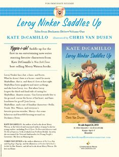Leroy Ninker Saddles Up: Tales from Deckawoo Drive Press Release