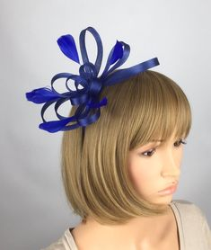 a6772dc50b691 Royal Blue Fascinator Mother of the Bride Wedding Ladies Day Occasion  Hatinator Royal Blue Cobalt blue