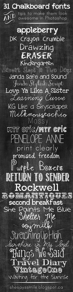 31 FREE Chalkboard Fonts & How to Create Realistic Chalk Writing in Photoshop