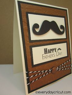 mustache father's day card