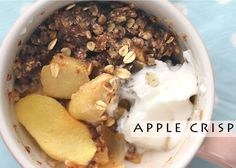 Easy Apple Crisp with 3-Minute Microwave in Mug Option (make appropriate E THM subs and use only 1 tsp butter)