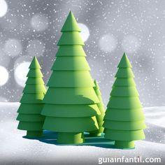 Árboles de Navidad caseros.