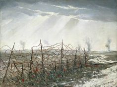 A Front Line near St Quentin by Christopher Nevinson, 1918.