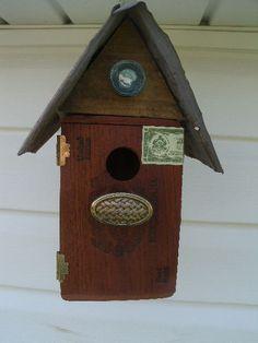 Rustic Cigar box Birdhouse by HollysBirdhouses on Etsy, $38.00