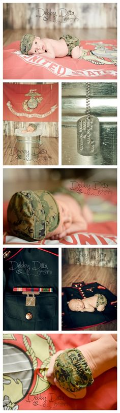 New Ideas For New Born Baby Photography : Debby Ditta Photography: Newborn baby B baby Marine by Tomball Texas photographe Military Baby Pictures, Cute Baby Pictures, Newborn Pictures, Maternity Pictures, Baby Photos, Military Couples, Military Life, Couple Pictures, Pregnancy Photos