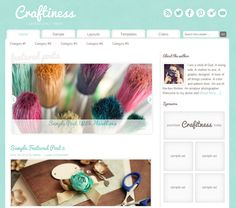 Craftiness Genesis child theme - a feminine arts and crafts theme for WordPress on the Genesis theme framework Blogger Templates, Layout Template, Blogger Themes, Restored 316, Wordpress, Arts And Crafts, Graphic Design, Crafty, Children