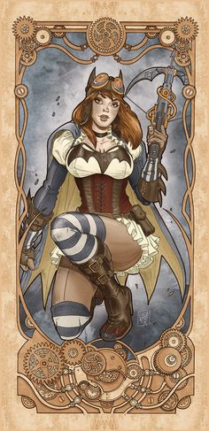 Steam punk Batgirl - I am totally going to make this outfit!