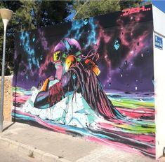 Deith for Graffitea Cheste in Cheste, Spain, 2019 Street Art, Spain, Beauty, Graffiti Artists, Art, Art Production, Sevilla Spain, Beauty Illustration, Spanish
