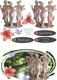 A beautyful decoupage card  to say thank you, happy birthday, or just I love you