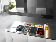 CS I - ProLine element with two induction-heated cooking zones--NO_COLOR Attic Inspiration, Induction Heating, Modern, Wok, Cooking, Design, Html, Kitchens, Color