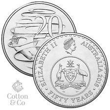 2016 20c Twenty Cent Australian Coin 50th Anniversary of Decimal Currency UNC