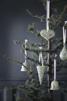 Bjørn Wiinblad Christbaumschmuck. Weihnachtenschmuck, Weihnachtskugeln.  Christmas porcelain accessoiries from Bjørn Wiinblad Christbaumschmuck