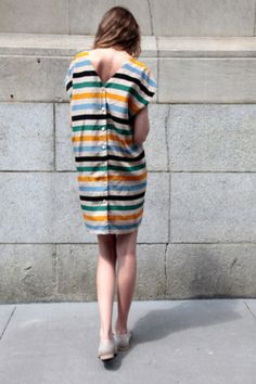 whatalicefound:  No.6 Striped Button Back Dress