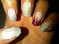 Brush up and Polish up!: CND Shellac Nail Art - Studio White & Glitter Fade