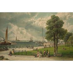 Buyenlarge 'Castle Garden at the Tip of Manhattan' Painting Print