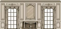 Victorian House Interiors, Victorian Homes, French Interior, Classic Interior, Gypsum Design, Wall Design, House Design, Decorative Mouldings, Wall Molding