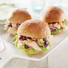 Hormel's Chicken Salad Cranberry Sliders paired with Clos du Bois Merlot