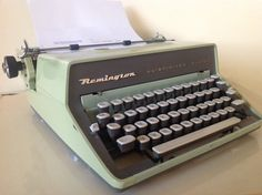 Remington Rand Green Quiet-Riter Eleven Manual by TresconyAntiques Retro Typewriter, Wedding Notes, Vintage Office, Typewriters, Simple Rules, Modern Industrial, Fun Facts, Manual, Cool Stuff