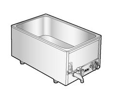 "Alfa Intl. Food Warmer Countertop - FW9000  Food Warmer, Countertop, Electric, full size pan, wet operation, 18/8 stainless steel construction, 3-1/2 qt water capacity, EZ-Drain, 65"" cord w/3 prong plug, one yr warranty, 120V, 60Hz, 1 ph, 1200 watts, 10 amps, NSF"