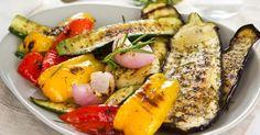 Recette de Salade de légumes grillés au barbecue. Facile et rapide à réaliser, goûteuse et diététique. Ingrédients, préparation et recettes associées.