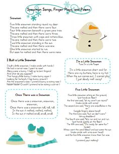 Snowman Songs Fingerplays.pdf