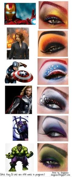 Avengers eye make-up... This is kind of cool!
