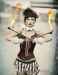 Maggie Lally of Lucent Dossier, Los Angeles, Wet plate collodion on aluminum colorized by Alisa Duda Creepy Circus, Halloween Circus, Circus Clown, Circus Theme, Circus Party, Halloween Costumes, Halloween 2014, Halloween Outfits, Vintage Circus Costume