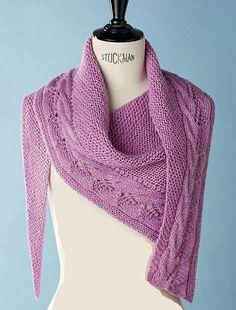 Craft Passions: Asymmetric shawl / scarf.# free # knitting pattern...