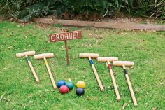 wedding games croquet games Fun Wedding Games That'll Keep Guests Laugh. - wedding games croquet games Fun Wedding Games That'll Keep Guests Laughing - Wedding Reception Games For Guests, Wedding Yard Games, Wedding Tags, Wedding Humor, July Wedding, Wedding Ideas, Wedding Weekend, Wedding Fun, I Do Bbq