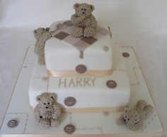 Barnaby Buttons Christening cake by sarah288, via Flickr