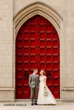 Cathedral of learning red door   Heinz Chapel Wedding   Aaron Varga Photography   Pittsburgh Wedding Photographers