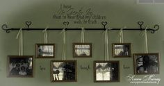 curtain rod picture frame holder - Google Search