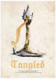 Tangled Fan Posters