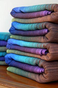Vandeloo Woven Woven Gradation Peacock Wrap- Absolutely stunning- absolutely unattainable :)