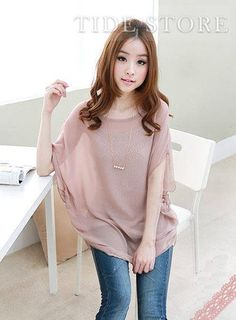 Chic Pure Color Two Pieces Set  Blouse, Korean Clothes Online