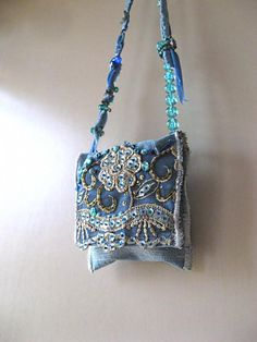 Beaded Coin Pouch Bead Necklace Bag Shoulder by AllThingsPretty, $42.00