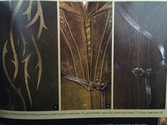 Mirkwood Elf traveling costume. Left: male tunic Center: female cuirass Right: brown male tunic